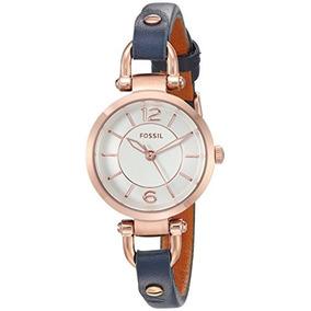 18eb834b4375 Mini Reloj Fossil Georgia Para Mujer En Tono Dorado Rosado C