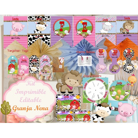 Kit Imprimible Granja Nena Kits Personalizados En Mercado Libre