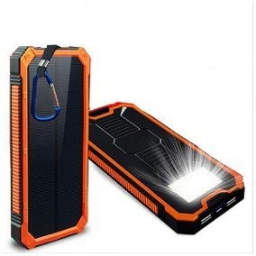 Power Bank Solar Con Lampara Led 8000 Mah Cb-024