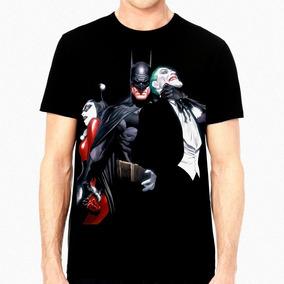 Playera Batman Joker Harley Quinn Alex Ross Dc Comics $230