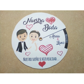 55 Invitaciónes Giratoria Redonda Cumpleaños Boda Bautizo Xv