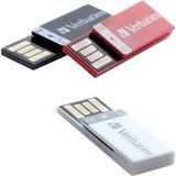 3 Pack Memoria Usb 8 Gb Blanco Negro Rojo Verbatim 98674