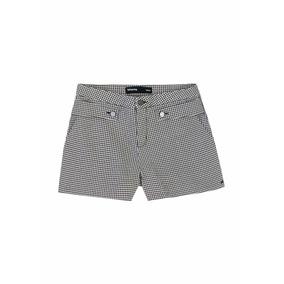 Shorts Feminino Em Tecido De Algodão Hering - 324k49r Xadrez