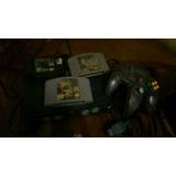 Excelente Combo Consola De N64 +control+tres Juegos