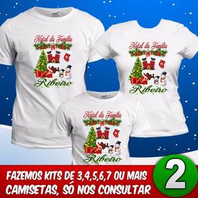 Camiseta Familia Personalizada Natal Camisetas Manga Curta No