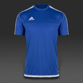 Camisa adidas Climacool Adizero Tiro 15 Azul branco preto a81b1e62550