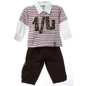 Conjunto De Bebê Masculino Camiseta E Calça