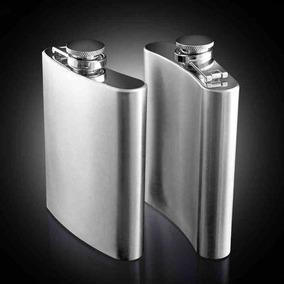 15x Cantil Porta Bebida Bolso Flask Inox 7oz 210 Ml