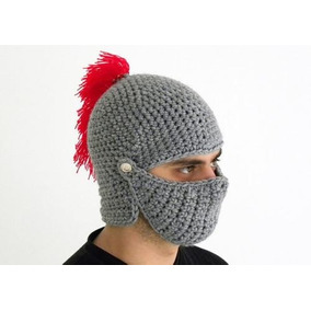 Touca Capacete Gladiador Em Crochê Romano Medieval Cosplay d68d9d845be