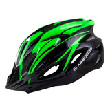 Capacete Absolute Sinalizador Led Ciclismo Bike Nero Verde