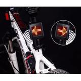 Lanterna Traseira Bike Automática Seta Luz Freio Usb 64 Led