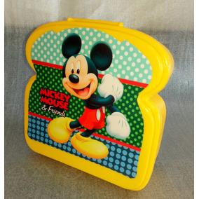 Sandwichera O Taza Escolar Infantil Plástica Mickey Mouse