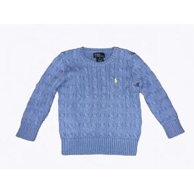 50085ca6d0df4 Suéter Manga Longa Polo Ralph Lauren Tam.4 Azul Meninos