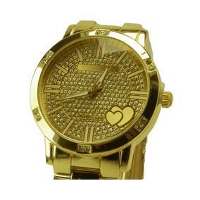 72a9f970f91 Relógio Mulher Quartz Coração Dourado - Relógios De Pulso no Mercado ...
