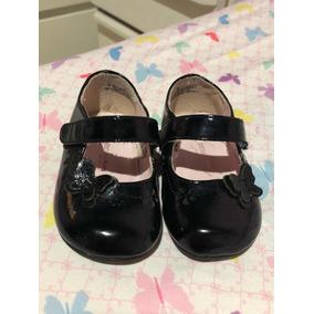 fab4ddbee337b Zapato De Bebe Niña. Talla 3 Meses Negros Patente