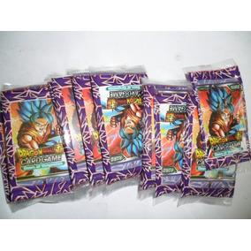 Cartas Dragon Ball - 10 Pacotes Com 4 Unidades Cada