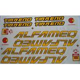 Adesivo Bicicleta Alfameq Tirreno Amarelo Frete Grátis