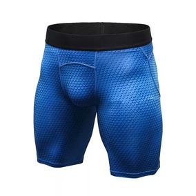 Short De Licra Deportivo Hombre Para Entrenar Azul
