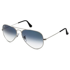 00b8163cade53 Óculos Sol Rayban Top Aviador Rb3025 Prata Azul Degrade Orig