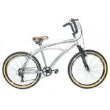Bicicleta Beach Caiçara Praiana Retrô De Alumínio Suspensão
