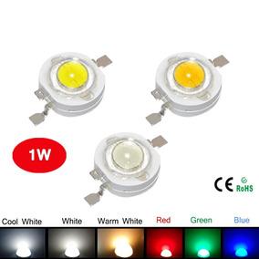 Lâmpada Power Led Chip 1w 3v Branco Azul Verde Vermelho