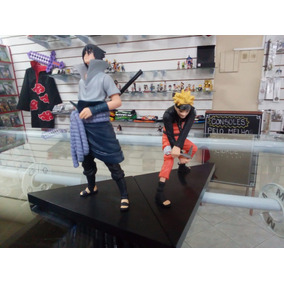 Conjunto Naruto E Sasuke 2 Action Figure Boneco Frete Fixo