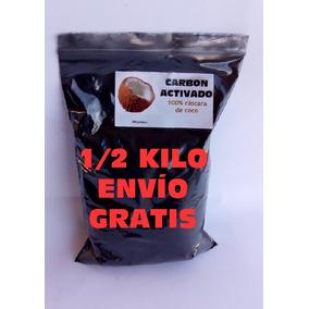 Carbon Activado 1/2 Kilo Envio Gratis Cascara De Coco