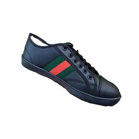 353eda1b4 Tenis Yankee Plataformas Mocasines Gucci - Zapatos de Hombre Negro ...