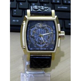 184bb130444 Relogio Masculino Quadrado Preto De Luxo - Relógios De Pulso no ...