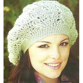 Boina Tejida Al Crochet Para Mujer Artesanal - Boinas en Mercado ... c4796348c79