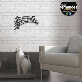 Escultura De Parede Partitura Musical - Frete Grátis