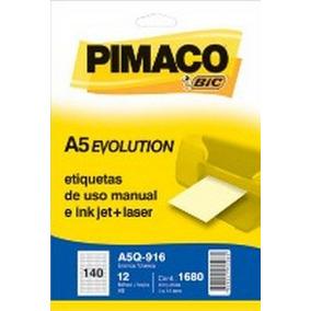 Etiqueta Adesiva Pimaco A5 Multiplos Usos A5q-916e 12fls