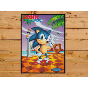 Poster Quadro Sonic Sega Master System Mega Drive Video Game