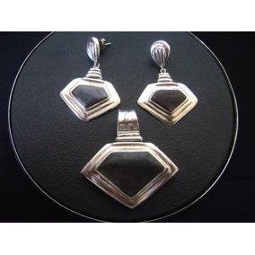 Conjunto Pingente É Brincos Indiano Em Prata 925 Pedras