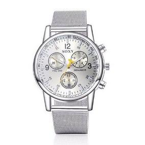 ee8b488bcb2be Relógio Jimin Pulso Metal Cor Prata Fundo Vermelho Luxo - Relógios ...