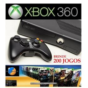 Xbox 360 Semi Novo Hd 320gb + Controle + 200 Jogos