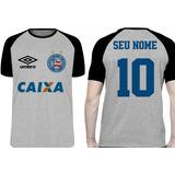 Camiseta Personalizada Com Seu Nome Time Bahia Salvador 58efe2ba8d6ec