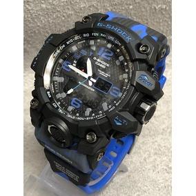 Relógio Masculino Gchock Camuflado Azul Militar
