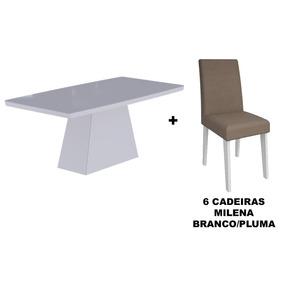 Sala De Jantar Cimol Mesa Helen 1800x900 Com 6 Cadeiras Mile