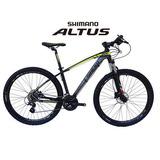 Bicicleta 29 27v Altus Freio Hidr Susp Trava + Acessorios