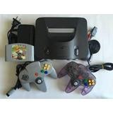 Nintendo 64 (consola+cables+2 Controles+1 Juego) 50$