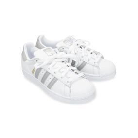 wholesale dealer 0f517 abc2f Zapatilla adidas Superstar W Blanco-gris B42002