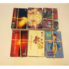 Lote Com 600 Cartões Telefônicos Variados/series Fechadas