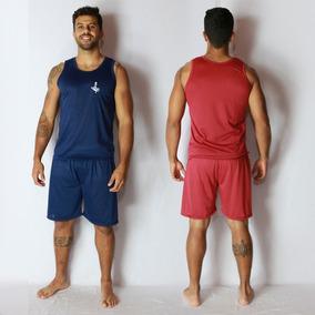 Pijama Curto Masculino Regata Camiseta E Short Adulto 007