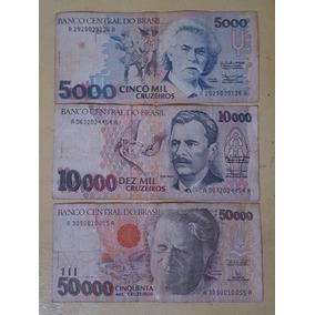 Cédulas De 10 E 50 Mil Cruzeiros - 1993