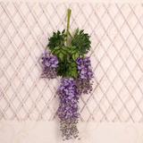 Purple - 24pcs - 24 Flor Artificial Garland Vid Wisteri-1452