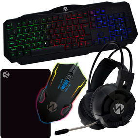 Kit Gamer Wpc Rgb - Teclado, Mouse, Mouse Pad, Headset - Wpc