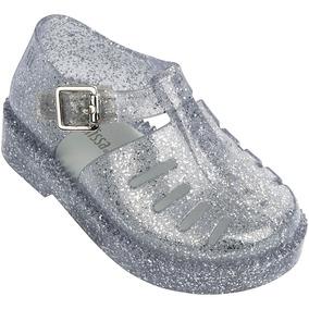 79538383ea Mini Melissa Aranha 7916 Vidro Tp Com Glitter Gl237
