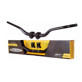Guidão Oxxy Super Fat Bar Hornet Xj6 E Adaptador Preto