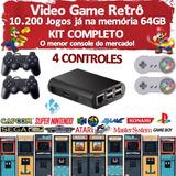 Video Game Retrô + Kodi + 10.000 Jogos + 4 Controles + 64gb